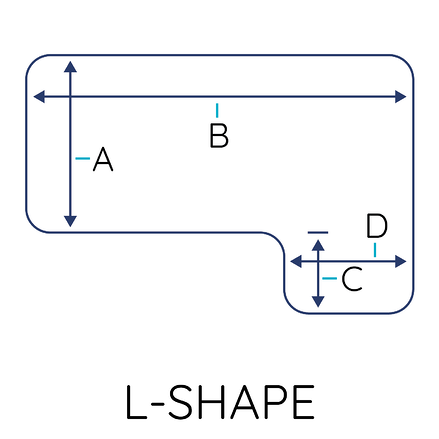 Custom L Shape Safety Covers With Calculator