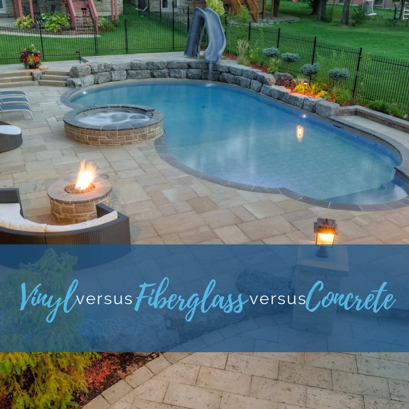 Vinyl vs. Fiberglass vs. Concrete Pools