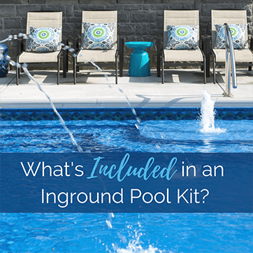 What is included in a swimming pool kit?